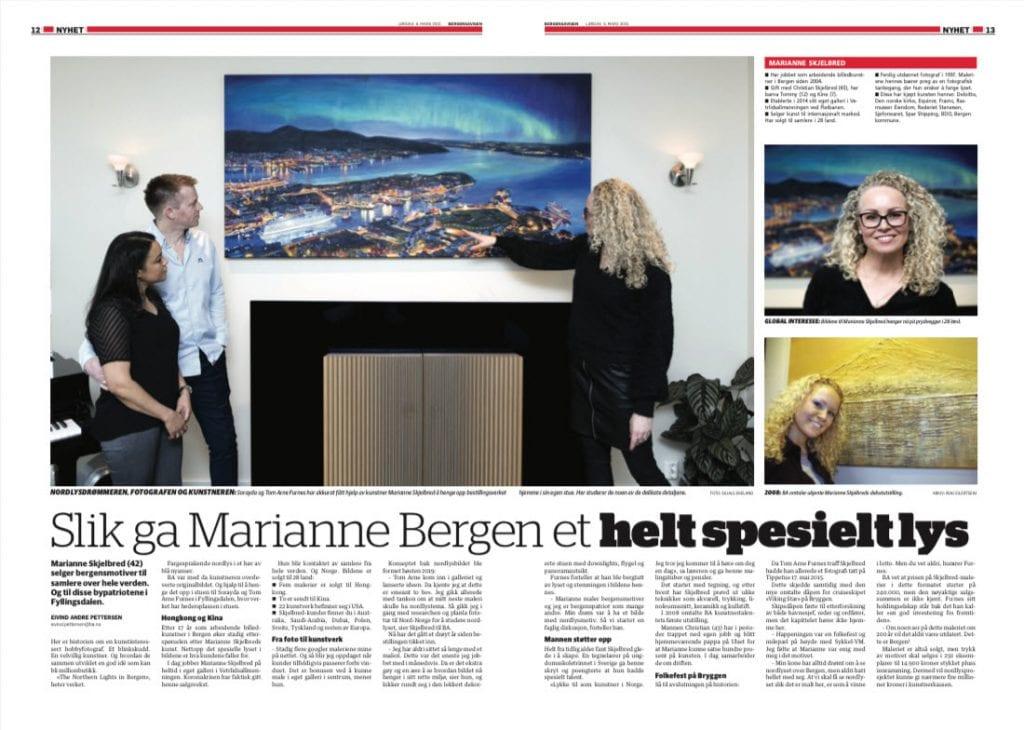 Skjermbilde fra BA: Slik ga Marianne Bergen et helt spesielt lys